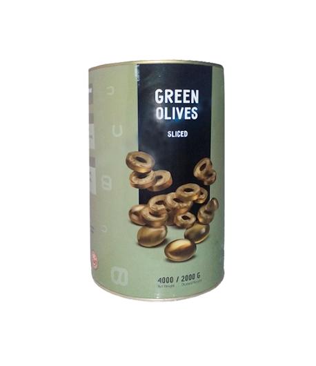 Оливки зеленые целые б/к 4 кг