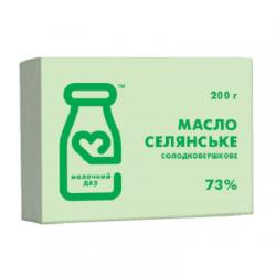Масло сливочное 73% Селянске  200гр