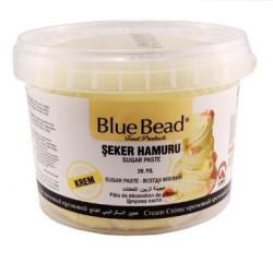 Сахарная паста blue bead кремовая