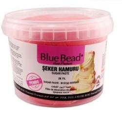 Сахарная мастика Blue Bead розовая 1 кг