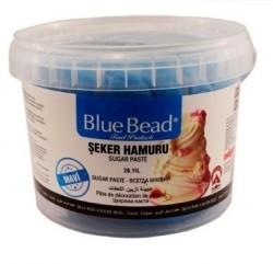 Сахарная мастика Blue Bead голубая 1 кг