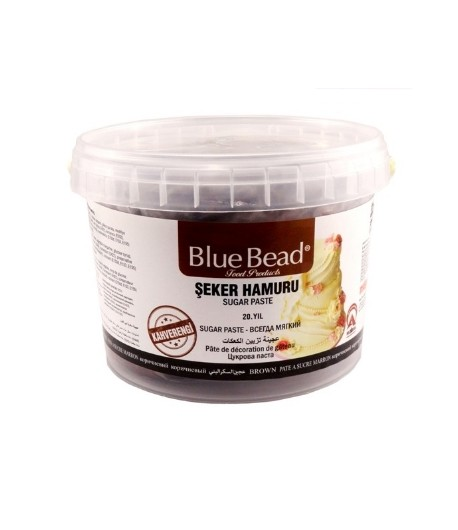 Сахарная мастика Blue Bead коричневая