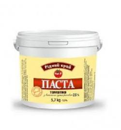 Томатная паста 25% ТМ Рідний край